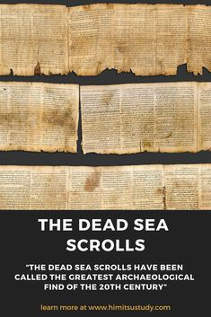 Some say the bible has been lost in translation over the centuries but is this true? The Dead Sea Scrolls is an amazing historical and archaeological discovery that shows us otherwise. Archaeological Discoveries, Archaeological Finds, Exodus Bible, Dead Sea Scrolls, Religious Studies, Bible Knowledge, Bible Truth, Bible Lessons, History Facts