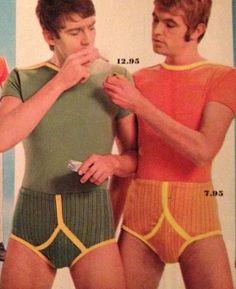 Enjoying a quite fag in their jockeys.