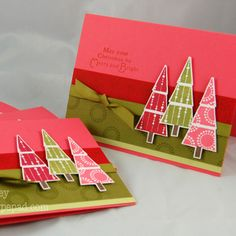 Do with paint chip trees? Maybe stamp the paint chips first to give them texture....would be pretty easy, I think!
