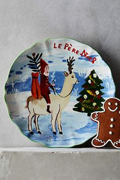 Holiday In Provence Dessert Plate - anthropologie.com