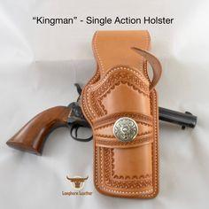 Longhorn Leather AZ - Single Action holster featuring the design 1911 Holster, Pistol Holster, Vertical Shoulder Holster, Cross Draw Holster, Colt Single Action Army, Custom Leather Holsters, Western Holsters, Cowboy Action Shooting, Rifle Sling