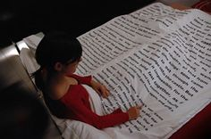 Bedtime Story Duvet Cover.  I think I would get tired of having the same words jump out at me all the time.