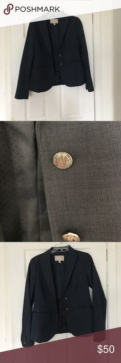 Banana Republic Navy Blue Skirt Suit Banana Republic Skirt Suit. Navy blue. Buttons on jacket are ornate and silver. Worn once. This is in great condition. Size 6 jacket. Size 8 Skirt. Banana Republic Jackets & Coats Blazers