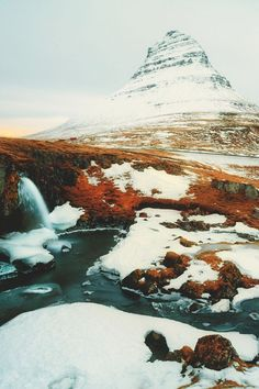 Kirkjufell, Iceland by Jens Klettenheimer Places Around The World, Oh The Places You'll Go, Places To Travel, Places To Visit, Wonderful Places, Beautiful Places, All Nature, Iceland Travel, Roadtrip