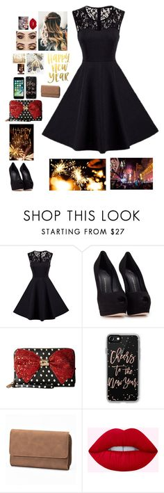 """Happy New Year"" by smilygirlcn ❤ liked on Polyvore featuring Giuseppe Zanotti, Betsey Johnson, Casetify and Croft & Barrow"