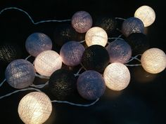 Cotton ball lights for home decorparty by Icandylighting on Etsy