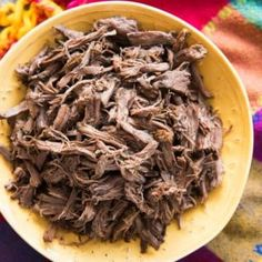 Slow Cooker Mexican Shredded beef is incredibly tender and delicious. It's super simple and easy to make and perfect for nachos tacos salads burritos chimichangas chilaquiles and more! Roast Beef Nachos, Shredded Beef Tacos Crockpot, Mexican Shredded Beef, Crock Pot Tacos, Mexican Meat, Bbq Beef, Supper Recipes, Meat Recipes, Mexican Food Recipes