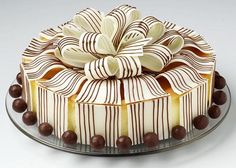 This beautiful bow design is so unique, you wouldn't even realize that it's cheesecake until you cut it.