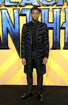 """Make Way for the King: Chadwick Boseman in Givenchy at the """"Black Panther"""" European Premiere 