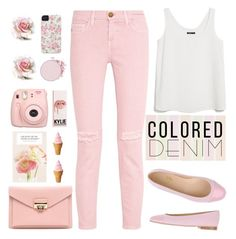 """""""Denim color pastel"""" by licethfashion ❤ liked on Polyvore featuring Case-Mate, Current/Elliott, MANGO, Chérie Amour, Fujifilm, polyvoreeditorial and licethfashion"""