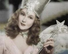 """My whole childhood was spent explaining that this was Glinda, not Glenda -- well, at least she was the good witch -- """"The Wizard of Oz"""" Glinda The Good Witch, The Worst Witch, Wicked Witch, Evil Witch, Vintage Glam, Vintage Hollywood, Georg Christoph Lichtenberg, Billy Burke, Pin Up"""