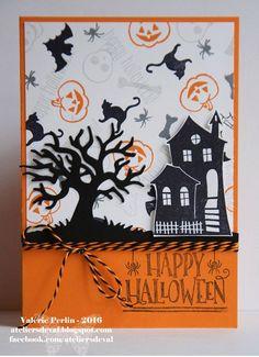 Halloween Windy Night Card