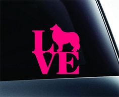 LOVE Collie Dog Symbol Decal Funny Car Truck Sticker Window (Pink) ExpressDecor http://www.amazon.com/dp/B00RW5GMLC/ref=cm_sw_r_pi_dp_LxfRub0XWAQ70