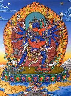 Chakrasamvara - Buddha Shakyamuni manifests in the form of Heruka Chakrasamvara for the benefit of all beings and therefore he is considered a source of high tantra. According to Kagyu teachings, Tilopa the Mahasiddha is an embodiment of this Chakrasamvara.