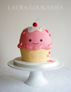 Ice Cream Cup Cake - Too cute!