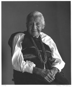 Portrait of Margaret Tafoya (1996) by Toba Pato Tucker for Pueblo Artists: Portraits published 1998  (Mrs. Tafoya b. 1904 d. 2001)