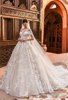 Crystal Design 2018 off the shoulder sweetheart neckline full embellishment princess ball gown wedding dress royal train (magenta) mv -- Crystal Design 2018 Wedding Dresses #weddingdress #weddinggown #wedding #bridal #ballgown