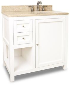 """View the Jeffrey Alexander VAN091-36-T Astoria Modern Collection 36"""" Inch Bathroom Vanity Cabinet with Counter Top and Bowl at Build.com."""