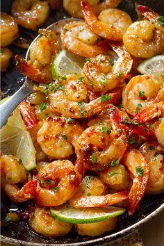 Garlic Honey Lime Shrimp – A budget-friendly and QUICK 15 minute meal that you. - Garlic Honey Lime Shrimp – A budget-friendly and QUICK 15 minute meal that you will make again an - Lime Shrimp Recipes, Lime Recipes, Cooked Shrimp Recipes, Chili Lime Shrimp, Cilantro Lime Shrimp, Chinese Shrimp Recipes, Shrimp Recipes For Dinner, Best Seafood Recipes, Fun Recipes
