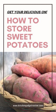 Are you ready to get into all the details you need to know about storing sweet potatoes? Then keep on reading for all the details you need to know about keeping sweet potatoes fresh for as long as possible. #potato #potatoes #potatoe #sweet #sweets #sweetpotato #sweetpotatoes #delicious #food #home #cooking #kitchen