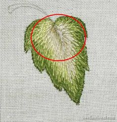 Long & Short Stitch Shading Lesson 7: More Complex Leaf