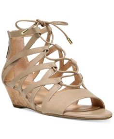 Franco Sarto Brixie Lace-Up Ghillie Demi-Wedge Sandals - Sandals - Shoes -  Macy's