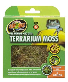 "Zoo Med All Natural Reptile Terrarium Moss Substrate Available in 5 sizes including a mini compressed bale size for multiple terrariums. All natural green"" product"" No dyes https://pets.boutiquecloset.com/product/zoo-med-all-natural-reptile-terrarium-moss-substrate/"