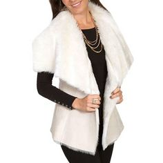 Scully Women's Suede and Faux Fur Vest