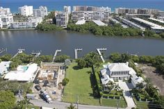 80 x 205 waterfront lot on Hypoluxo Island.