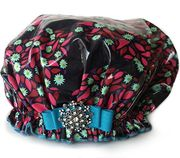 Cranberry Mint Shower Cap ~ Save 10% with PIN10  Coupon Code http://bluegiraffeboutique.com/categories/accessories/shower-caps-spa-hair-bands.html