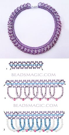 Free pattern for necklace Ireland seed beads 10/0 – 11/0 seed beads 6/o or round beads 3 mm
