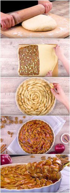 TORTA DE MAÇÃ COM CARAMELO, A MELHOR TORTA DE MAÇÃ QUE VOCÊ VAI COMER! (veja a receita passo a passo) #torta #maçã #tortademaçã #maçãcomcaramelo