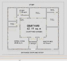 Small House Plans | Courtyard Ranch Houses - House Plans – Home Plans, Floor Plan