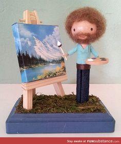 Miniature bob ross