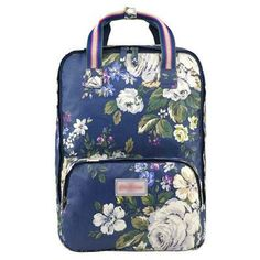 Floral Printed Canvas Fashionable Backpack