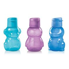 Chill with Max the Monkey, Pengui the Penguin and Danny the Dinosaur. Perfect tote for smoothies, water, snacks and more. 12-oz./350 mL bottle includes flip-open, Easy Sipper Cap. In Cool Aqua/Purple Daisy/Vivid Blue Dishwasher safe www.jamielackey.my.tupperware.com