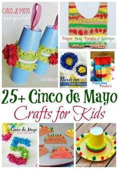 Check out these Cinco de Mayo craft ideas for kids—learn about Mexico's history while preparing for this spring celebration. Kids Crafts, Toddler Crafts, Preschool Crafts, Projects For Kids, Infant Crafts, Spring Projects, Spring Crafts, Craft Projects, Learning Spanish