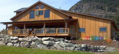 Western Red Cedar Board and Batten Siding - learn more about the most common Cedar Siding Options https://cedarcountrylumber.net/2016/08/15/wood-siding-profile-choices/