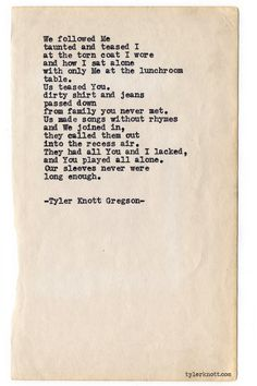 Typewriter Series #674 by Tyler Knott Gregson. Absolute Perfection.