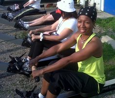 practice rowing before I go canoeing.