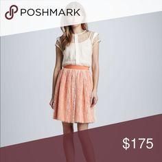 Nha Khanh Mesh skirt Description: Pleated mesh round sheer a-line skirts overlay midi skirt.  Nha Khanh presents a polished but playful look Nha Khanh Skirts Midi