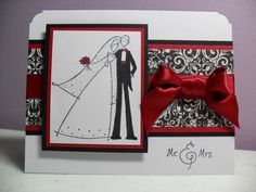 Handmade Wedding Card  Mr.  Mrs.  Bride and Groom by GGgreetings