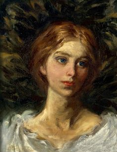 "Abbott Handerson Thayer, ""Portrait of a Girl"""