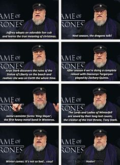 George R. R. Martin has a sense of humor...Game of Thrones spoilers for next season…