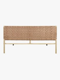 Woven Leather Bedhead in Natural - King Globe West Seed Woven Leather King Bedhead Natural Wood Bedroom Sets, Bedroom Furniture Sets, Wood Furniture, Furniture Design, Leather Headboard, Leather Bed, Construction Bedroom, Globe West, King Storage Bed