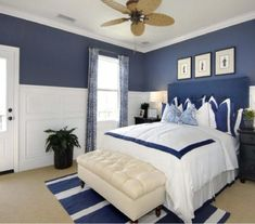 Nautical Bedroom| Nautical themed rooms