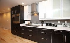 One wall kitchen layouts design contemporary one wall kitchen with arctic white quartz and black and . one wall kitchen layouts Kitchen Wall Units, One Wall Kitchen, Black Kitchen Cabinets, Kitchen Floor Plans, Kitchen Cabinet Design, Kitchen Flooring, White Cabinets, Basement Kitchen, Room Kitchen