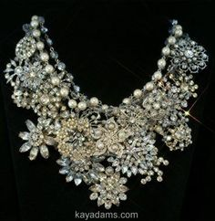 Vintage brooch necklace this is beautiful!