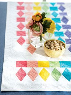Refraction Table Runner Pattern Download