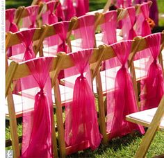 A different way to hang color on chairs... I like it...